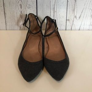 Women's Joie heather gray pointy toe flats size 39